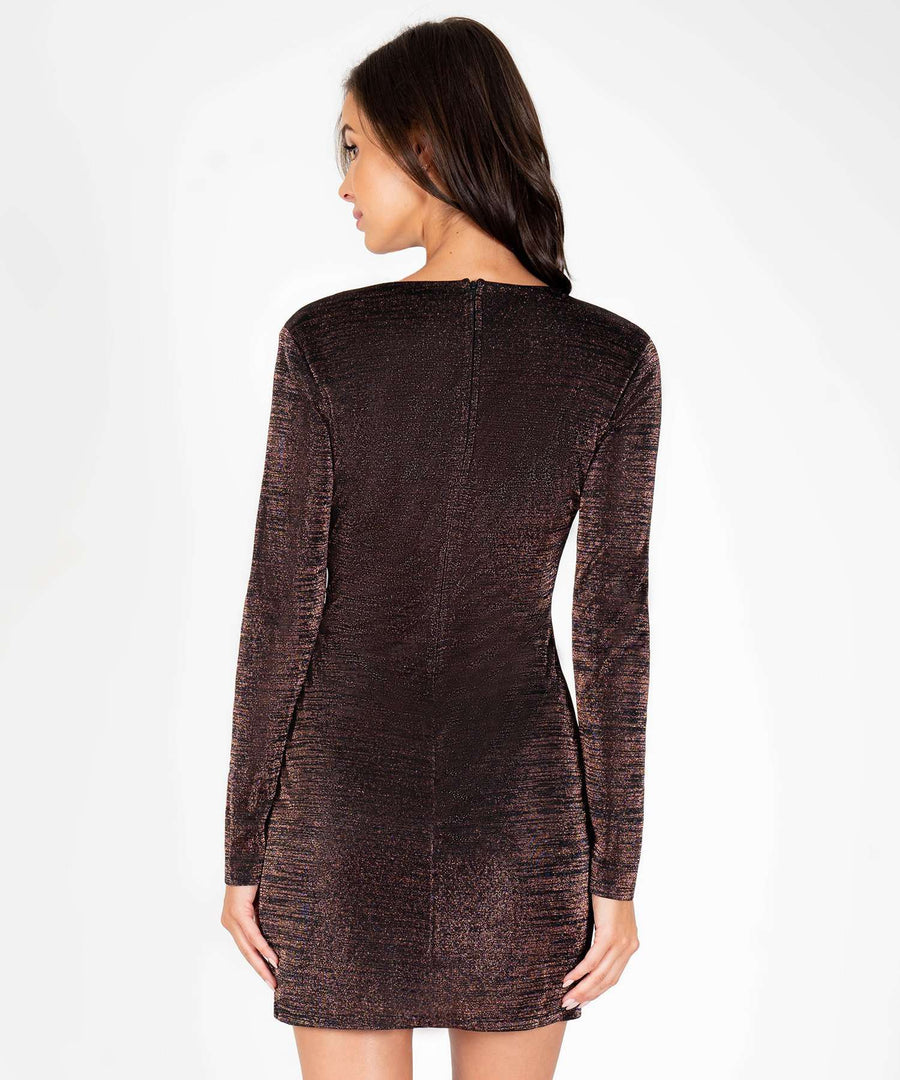 Give Me The Glitz Long Sleeve Bodycon Dress-New-Speechless.com