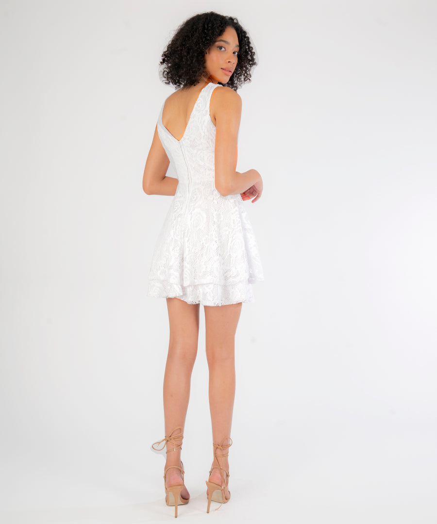 Charlotte Layered Lace Dress-Speechless.com
