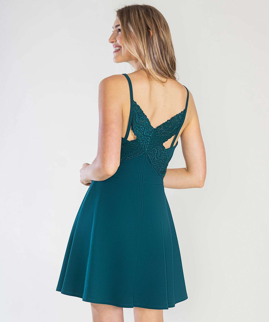 Lacey Lace Back Dress-Speechless