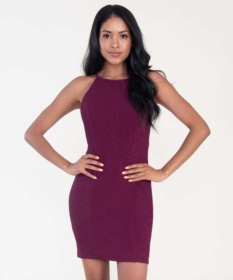 All That Glitters Bodycon Dress-Dressy Dresses-XX SMALL-Burgundy-Speechless