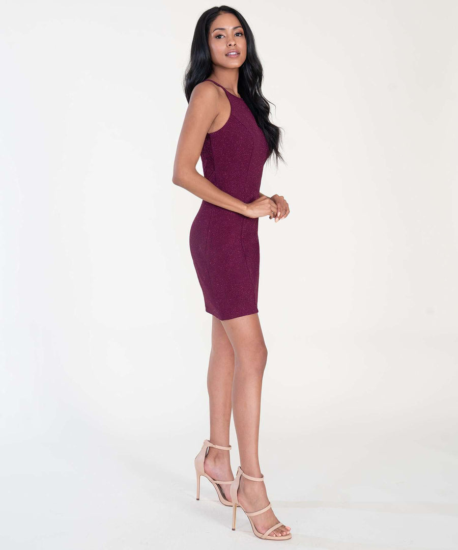 All That Glitters Bodycon Dress-Dressy Dresses-Speechless