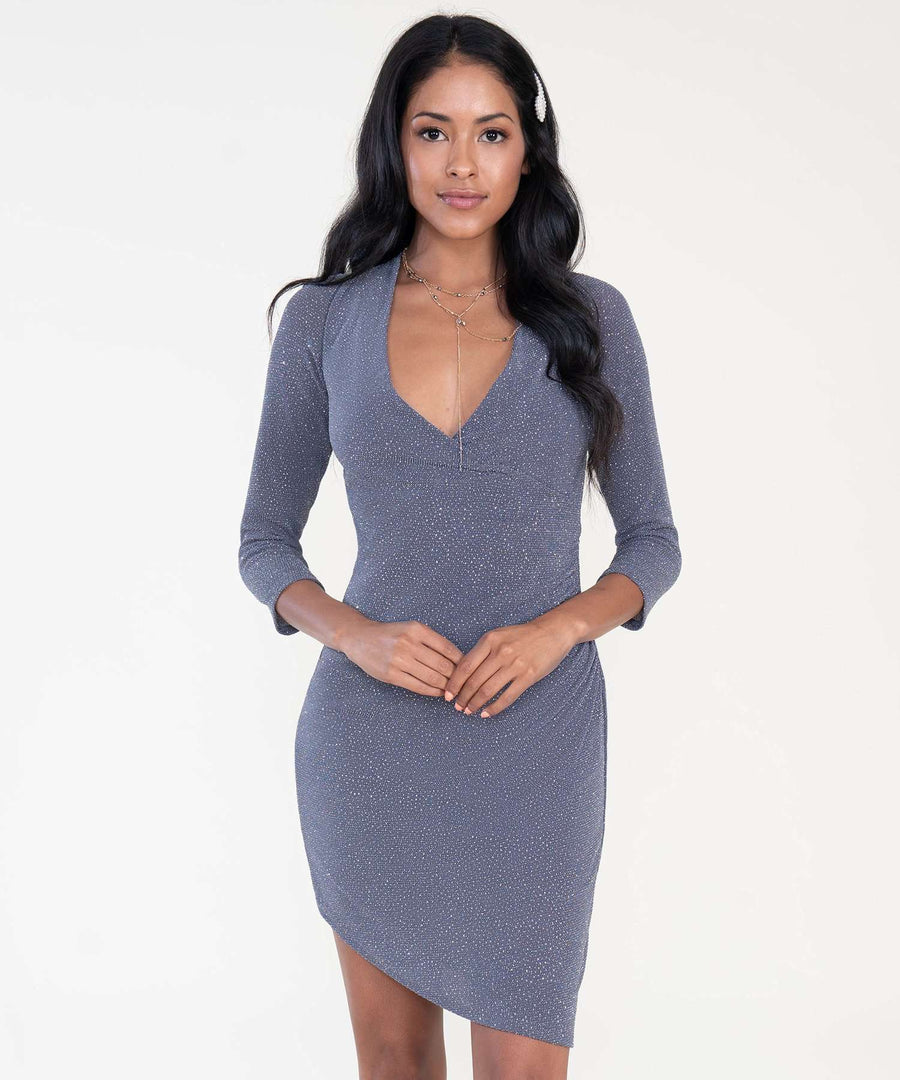 Arielle Bodycon Dress-Dressy Dresses-0-Slate-Speechless