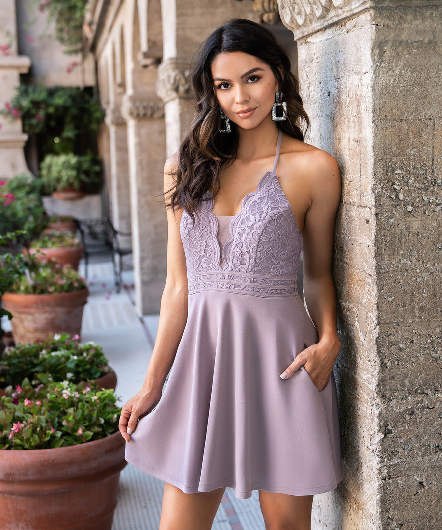Lotus Skater Dress-Dressy Dresses-Speechless.com