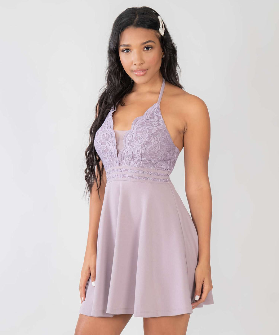 Lotus Skater Dress-Dressy Dresses-Speechless