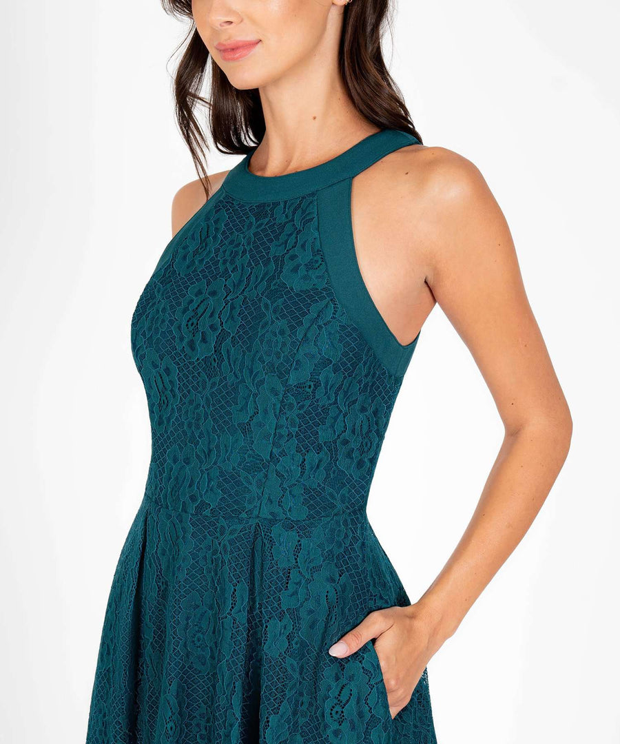 Ava Lace Skater Dress-New-Speechless.com