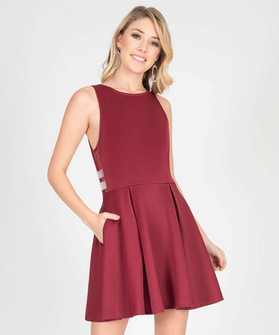 Mara Jewel Sides Skater Dress