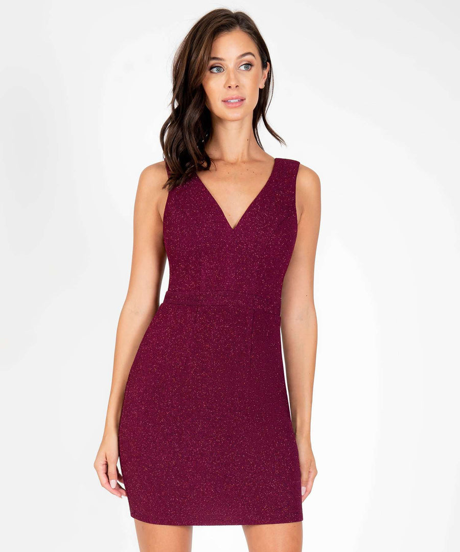 Keeping Secrets Slim Fit Dress-New-XX SMALL-Burgundy-Speechless.com