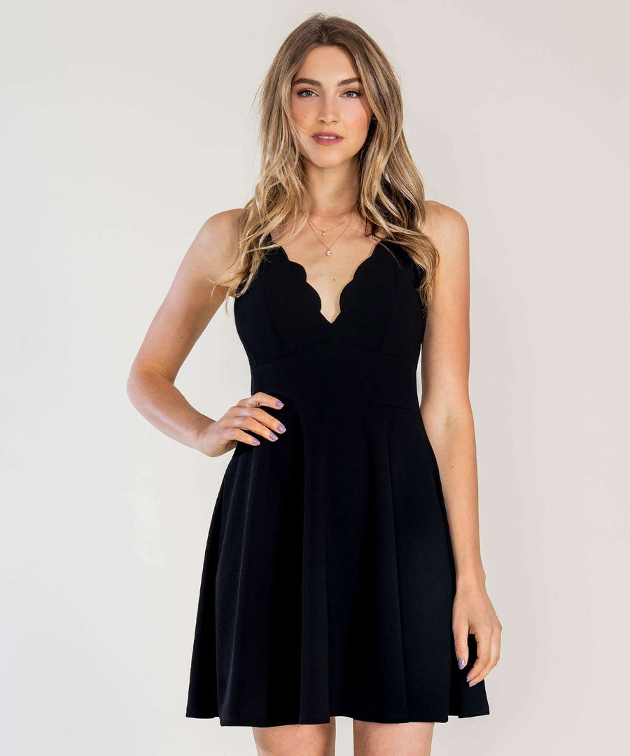 Back To Basics Exclusive Skater Dress-Dressy Dresses-0-Black-Speechless