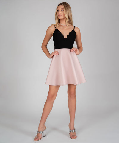 Back To Basics Colorblock Skater Dress - Image 2