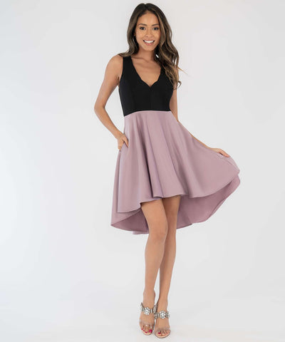 Lisa Scallop High-Low Dress
