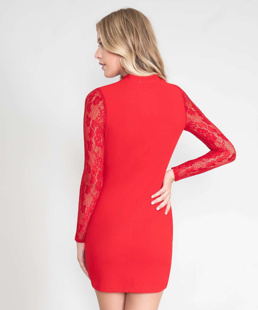 Dahlia Long Sleeve Bodycon Dress-New-Speechless.com