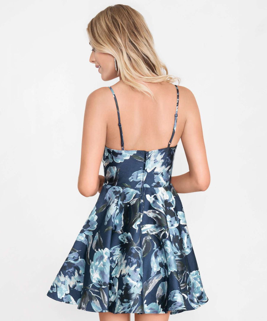 Falling For You Printed Party Dress-Formal Dress-Speechless