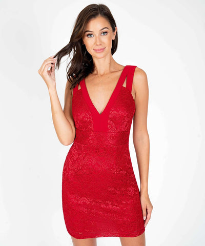 Bring The Heat Slim Dress-Red-Speechless.com