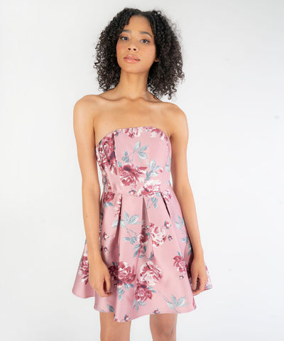 Can I Have This Dance Printed Tube Dress - Image 2