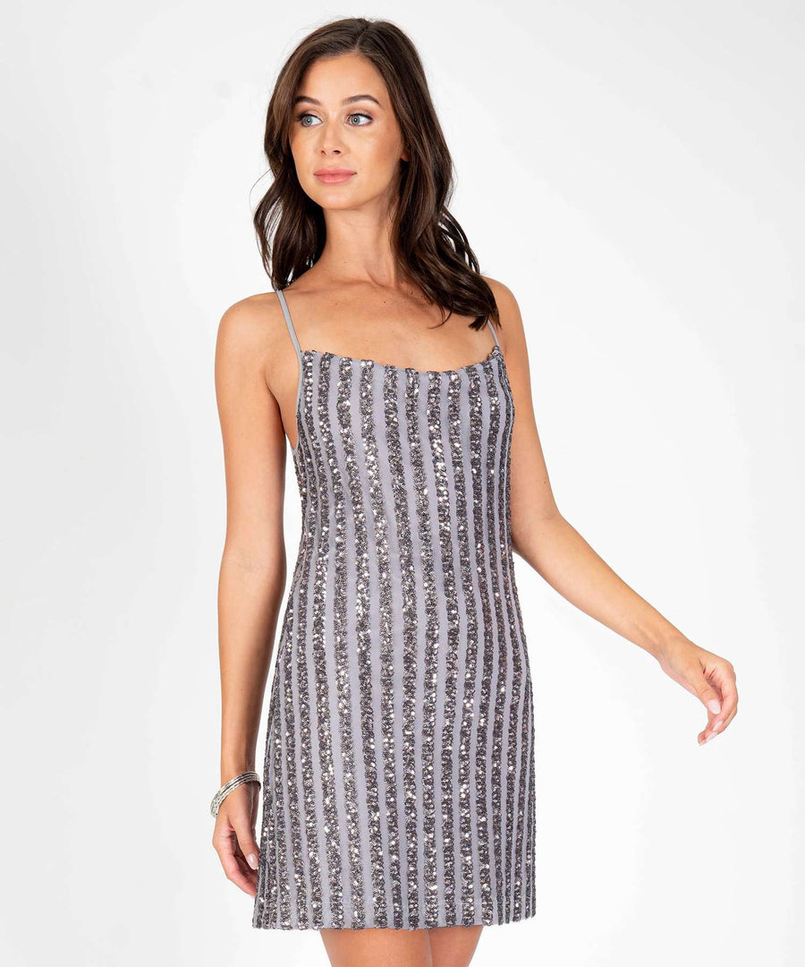 Astrid Sequin Slip Dress-New-Speechless.com