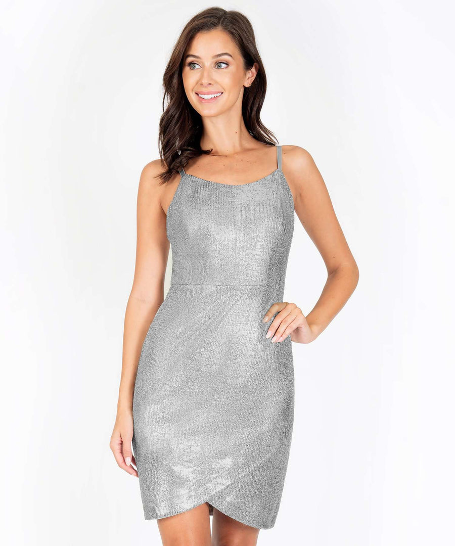 Euphoria Metallic Bodycon Dress-New-Speechless.com
