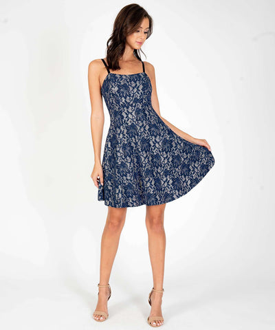 Keep Shining Glitter Lace Skater Dress - Image 2