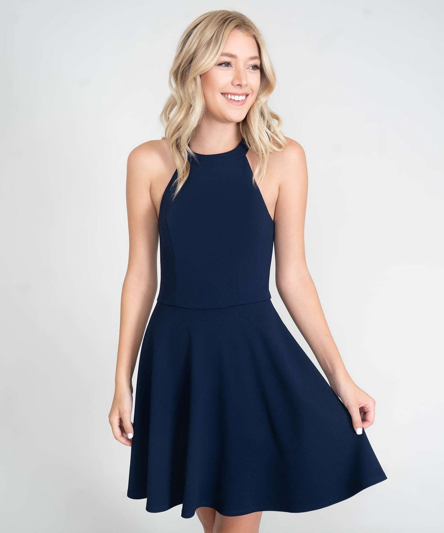Reese Exclusive Skater Dress-Dressy Dresses-0-Midnight-Speechless