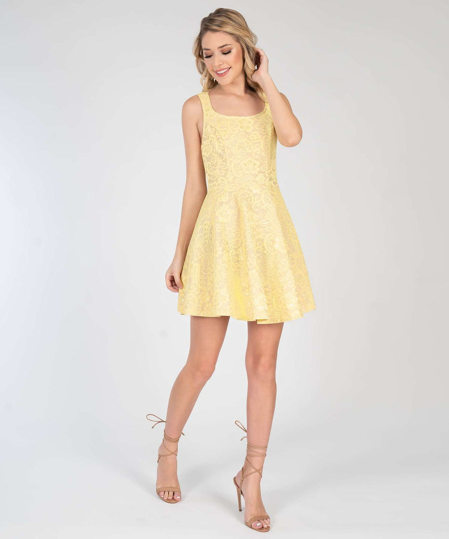 Darcy Lace Skater Dress-New-Speechless.com