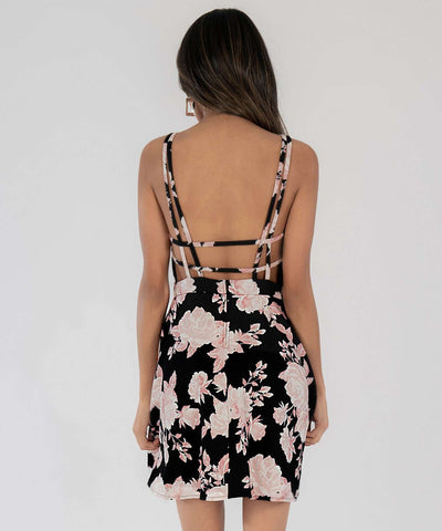 Maria Strappy Back Skater Dress - Image 2