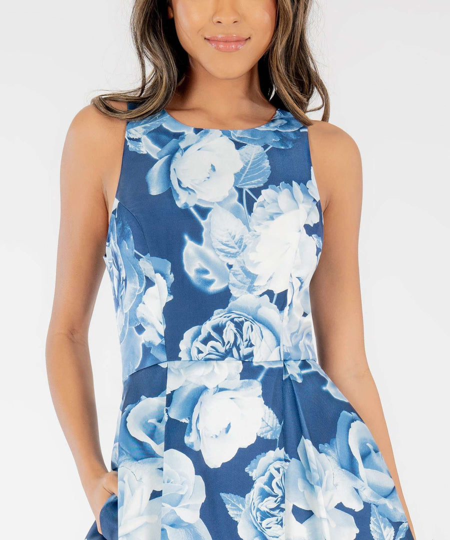 Georgia Printed Skater Dress-Dressy Dresses-Speechless.com