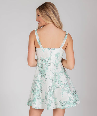 Evie Ruffle Fit And Flare Dress - Image 2