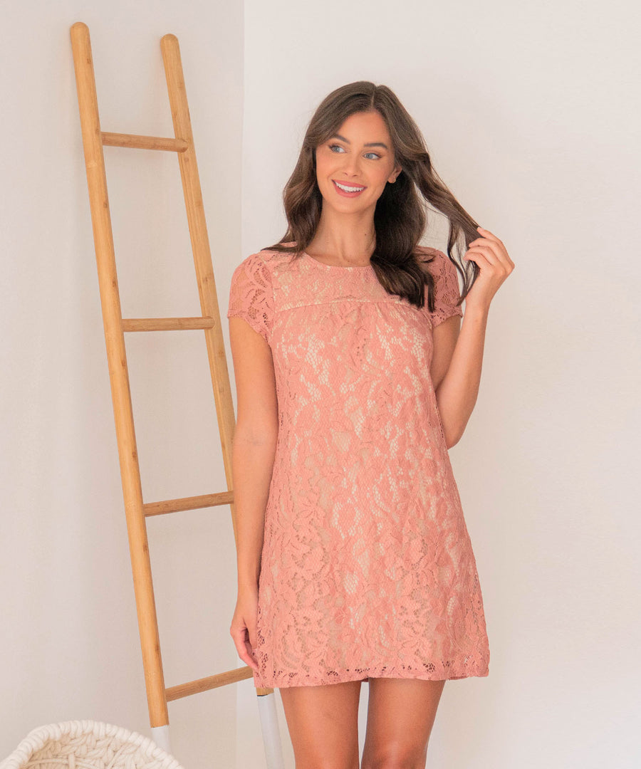 Nora Lace Exclusive Shift Dress-Speechless.com