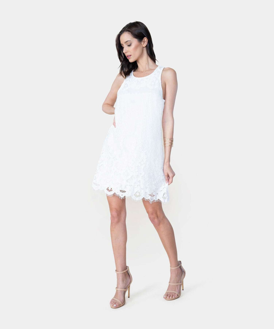 Harper Swing Dress-Casual Dresses-X SMALL-Ivory-Speechless