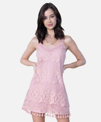 April Pom Pom Swing Dress-Casual Dresses-Speechless
