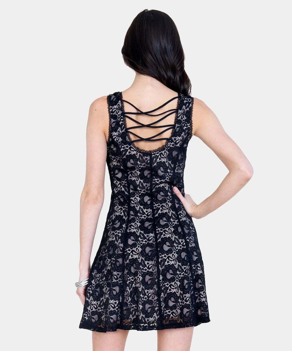 Got Your Back Lace Dress-Speechless