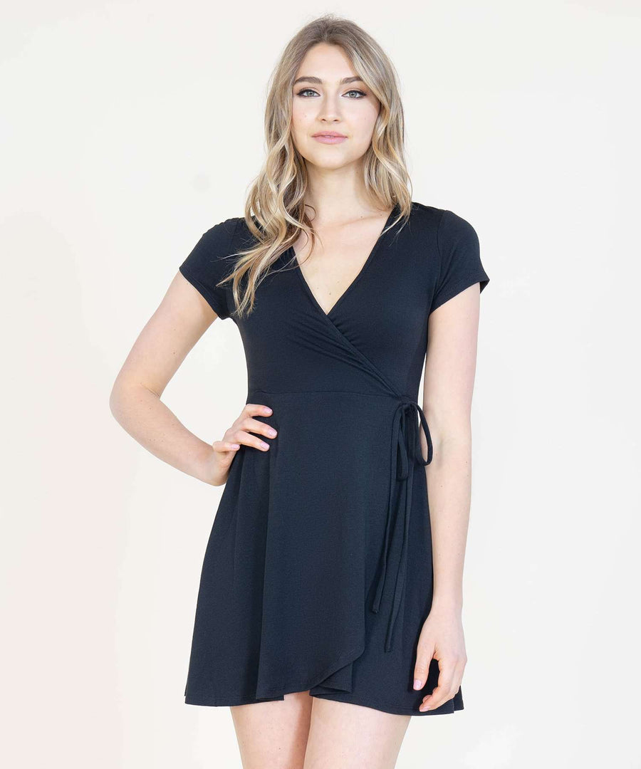 That's A Wrap Knit Dress-Casual Dresses-Speechless