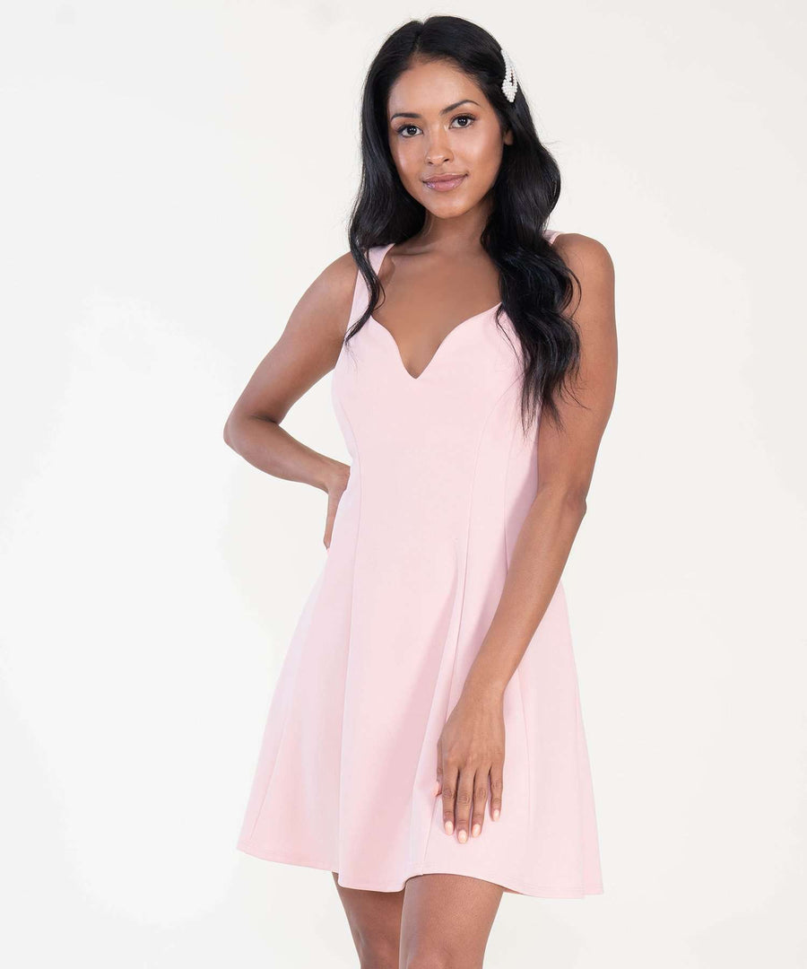 Some Like It Hot Exclusive Skater Dress-Dressy Dresses-XX SMALL-Blush-Speechless