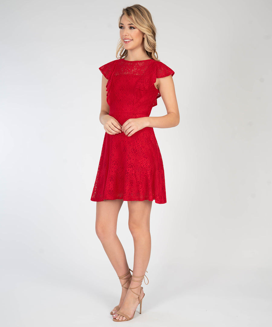 Right Time For Ruffles Dress-New-Speechless.com