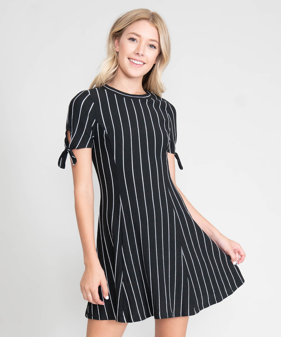 Perry Tie Sleeve Dress-Casual Dresses-Speechless