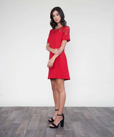 Hometown Girl Shift Dress-Casual Dresses-LARGE-CRIMSON-Speechless