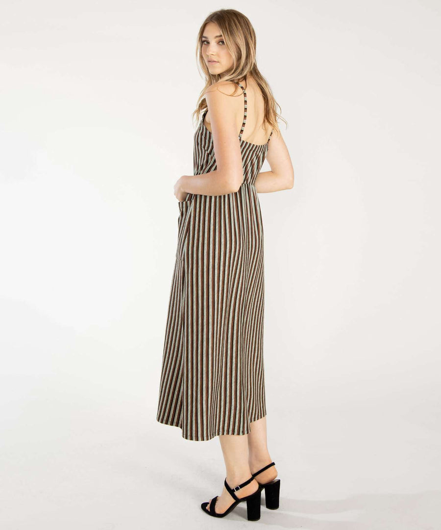 Baskin Button Down Midi Dress-Speechless