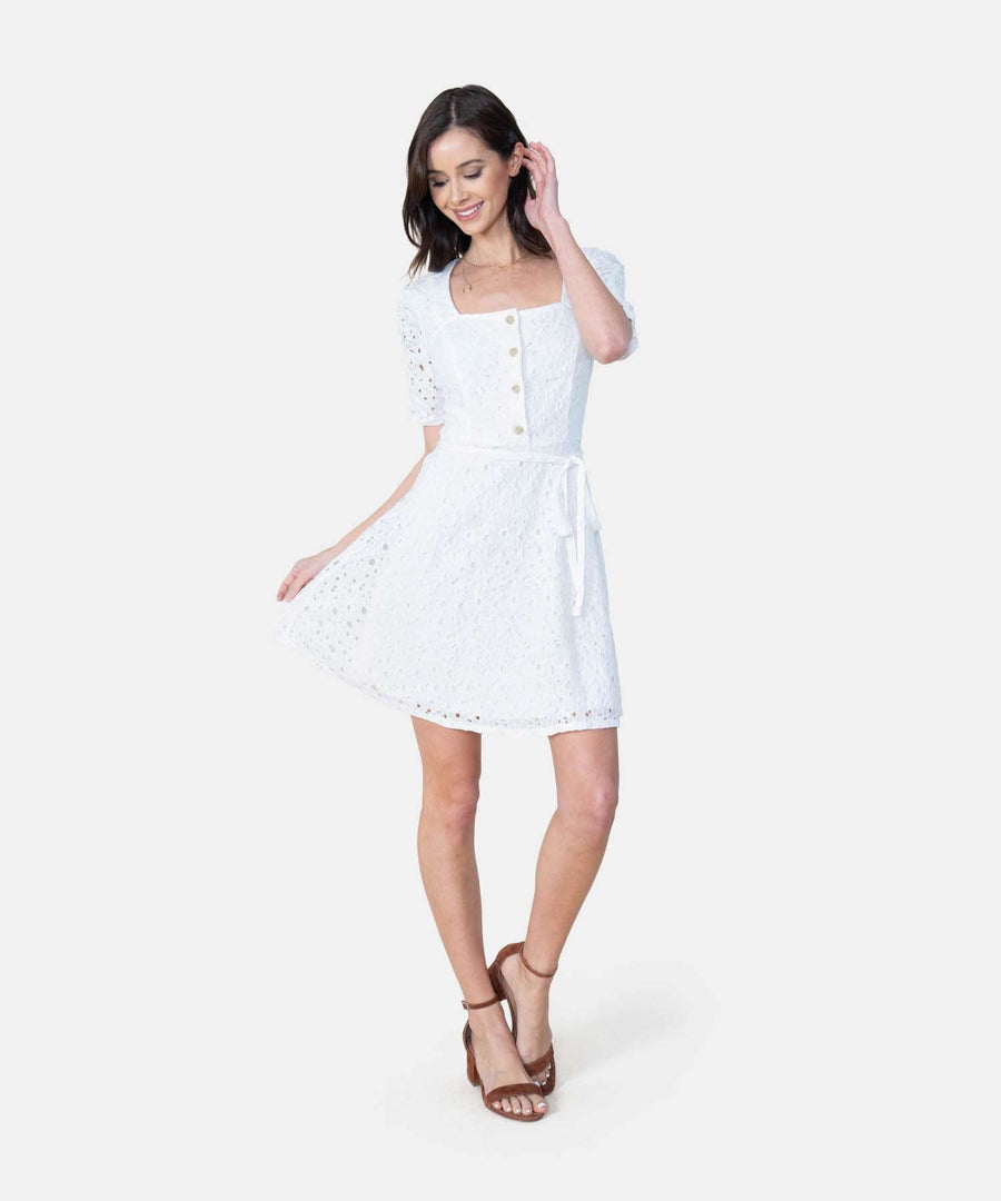 Valentina Button Front Dress-Casual Dresses-Speechless