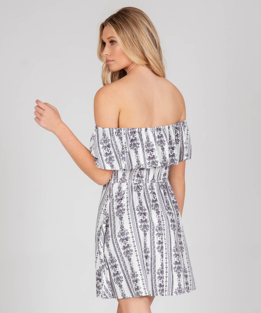 Presley Printed Button Front Dress-Casual Dresses-Speechless.com