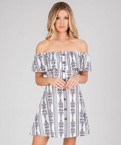 Presley Printed Button Front Dress