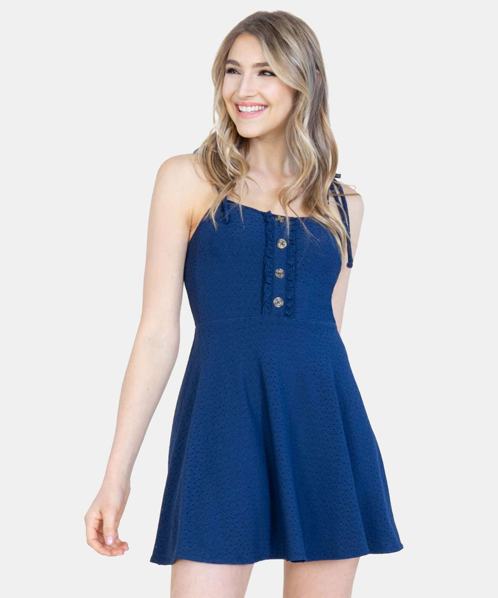 Cece Button Front Dress-Speechless