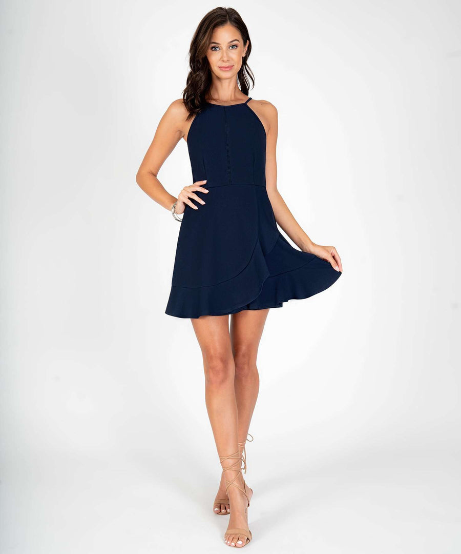 Sure Thing Ruffle Skater Dress-New-Speechless.com