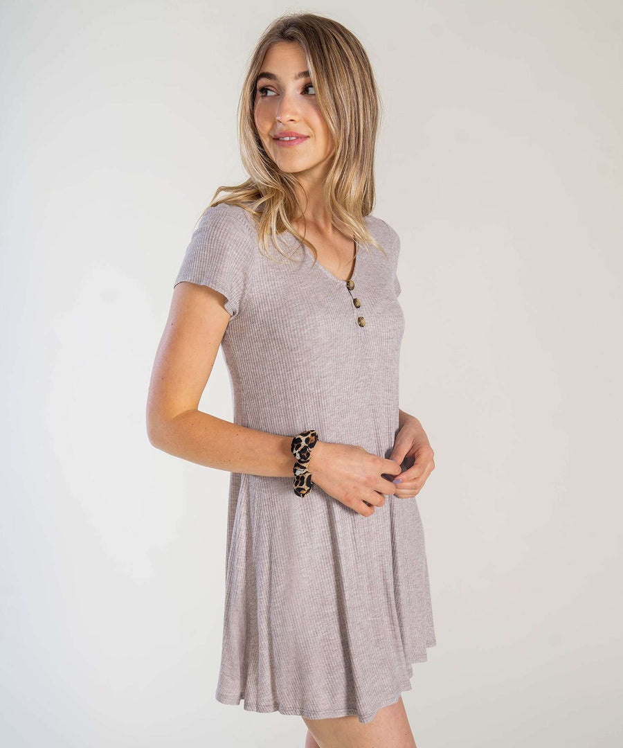 Take It Easy Knit Shift Dress-Casual Dresses-Speechless