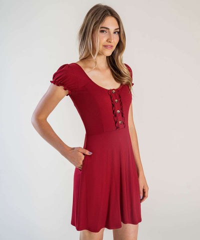 Chianti Button Front Knit Dress - Image 2