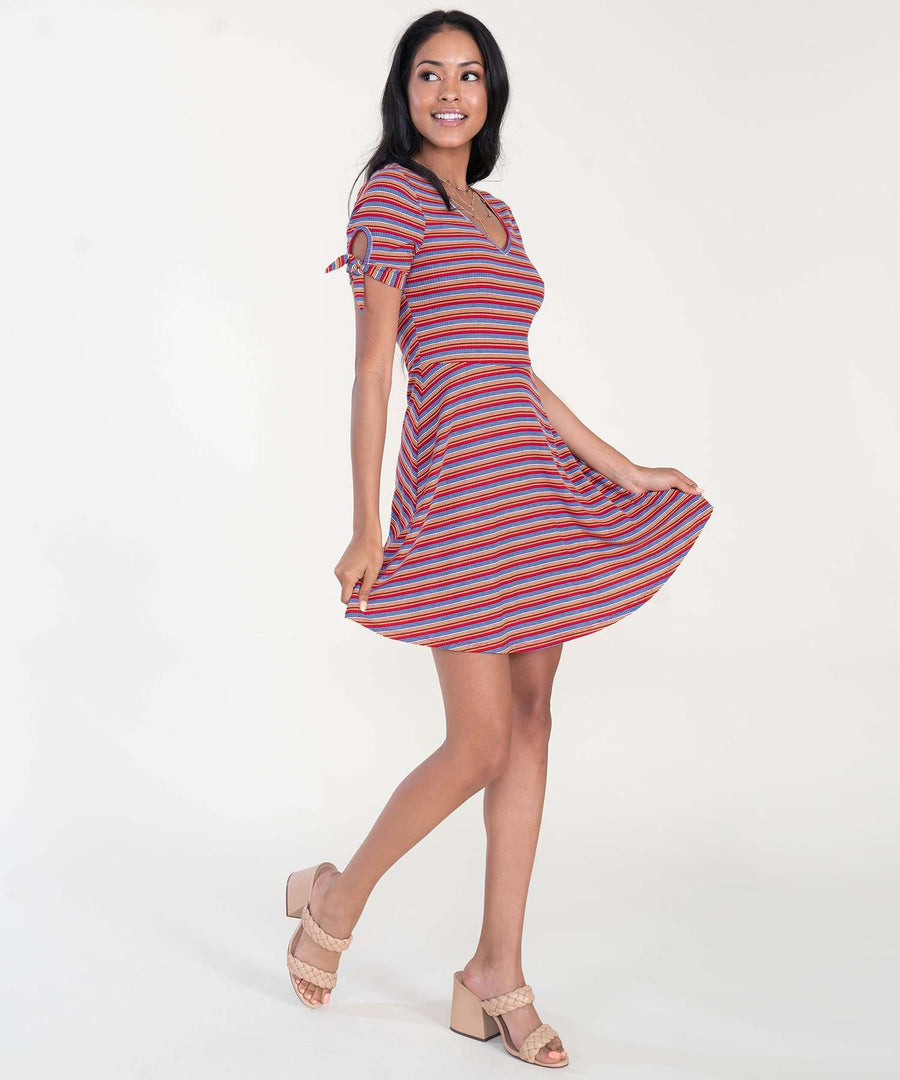 Tori Tie Sleeve Knit Dress-Casual Dresses-Speechless