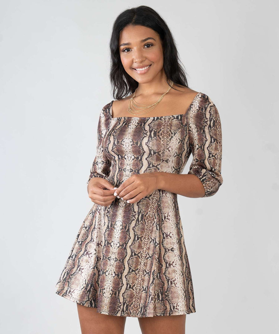 Joslin Snake Print Dress-Speechless