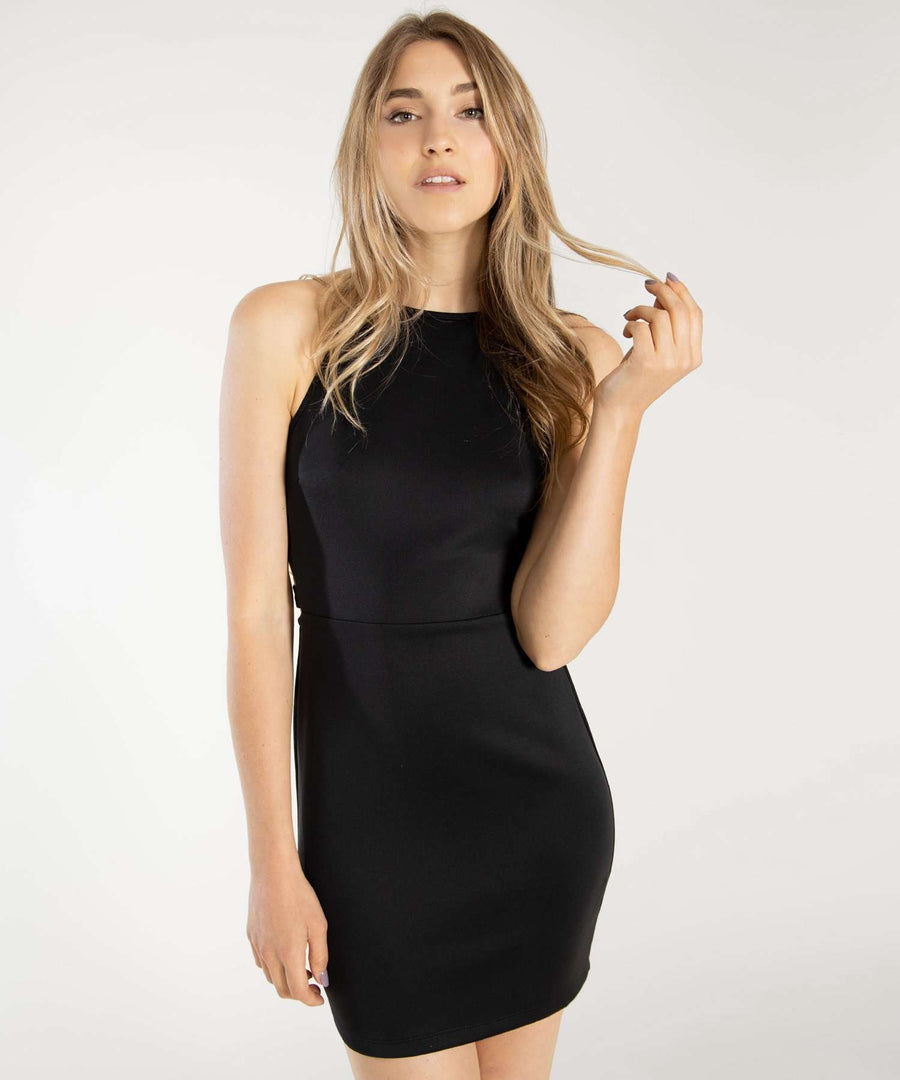 Ex's And Oh's Bodycon Dress-Dressy Dresses-XX SMALL-Black-Speechless