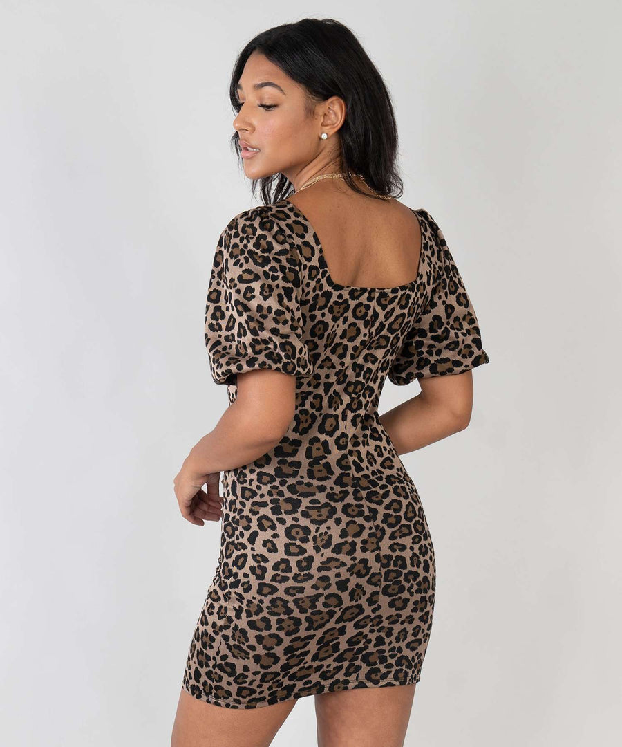 Carolina Animal Bodycon Dress-New-Speechless