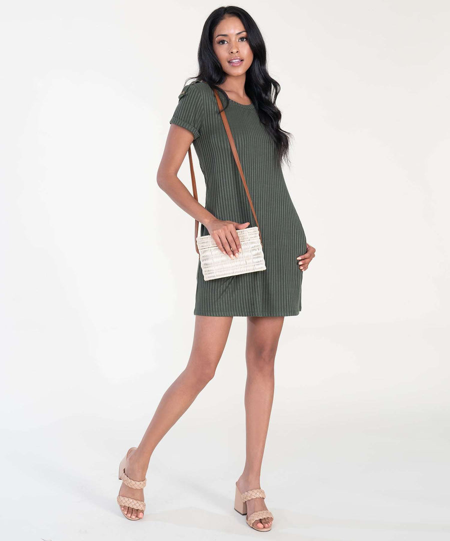 Jules Button Shift Dress-Casual Dresses-Speechless