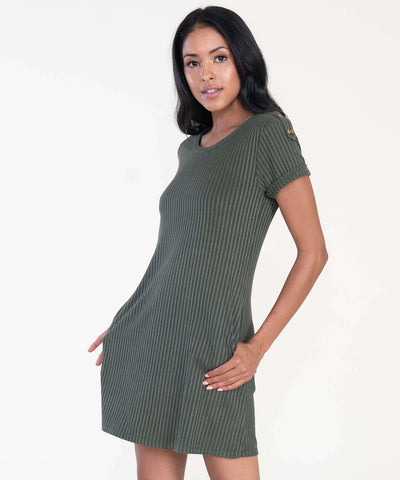 Jules Button Shift Dress - Image 2