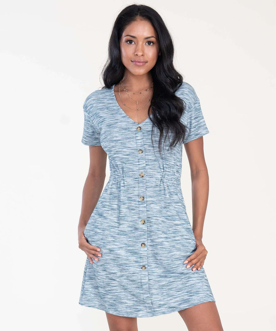 Sparrow Button Front Dress-Speechless